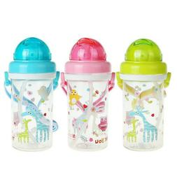 Sippy Cup with Soft Straw for Toddlers BPA Free Leak Proof T