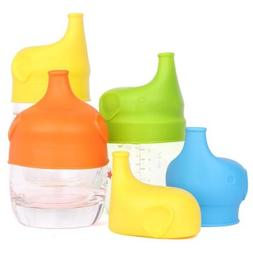 Toddlers Babies BPA-Free Silicone Sippy Lids For Any Cup Spi
