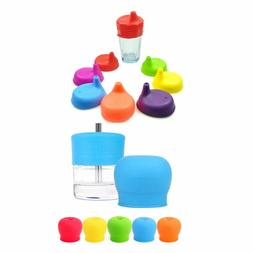 Toddlers Babies Silicone Sippy Lids For Any Cup Spill Proof