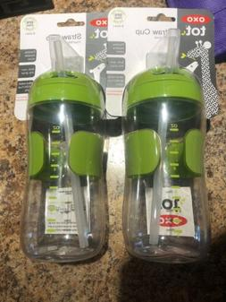 OXO Tot 11oz. Straw Cup 9 Months Plus Flexible Straw 2 Cups