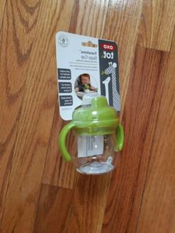 OXO Tot Transitions Sippy Cup with Removable Handles, Green,