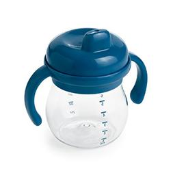 OXO Tot Transitions Sippy Cup with Removable Handles, Navy,