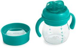 OXO Tot Transitions Soft Spout Training Cup Set, Teal, 6 Oun