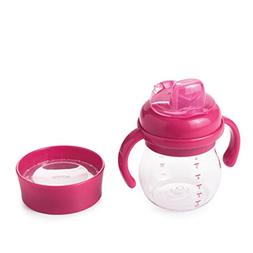 OXO Tot Transitions Soft Spout Training Cup Set, Pink, 6 Oun