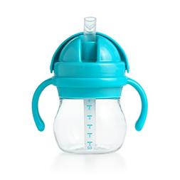 OXO Tot Transitions Straw Cup with Removable Handles, Aqua,