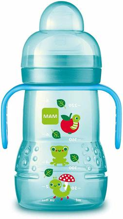 Mam Trainer Cup with Handles 4 Months 8 Ounce BPA Free, Blue