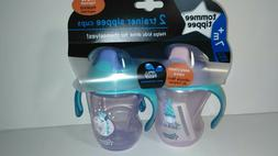 Tommee Tippee 2 Pack 8 Ounce Trainer Sippy Cup- Pink & Purpl