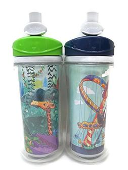 """TWO"" Traveltime Sport Spout Cups ""JUNGLE & FERRIS WHEEL THE"