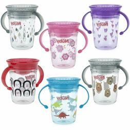 Nuby Tritan No Spill 2 Handle 360 Degree Printed Wonder Cup