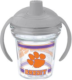 Tervis 1202348 Clemson Tigers Sippy Cup with Lid, 6 oz, Clea