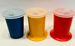 Tupperware Child Sippy Cup No Spill Lid Red Yellow Blue 1318