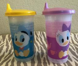Tupperware Daisy & Donald Duck Bell Tumblers Sippy Cups 10oz