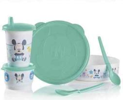 Tupperware Disney Baby Mickey Mouse Set Bowl, Snack Cup, Tum