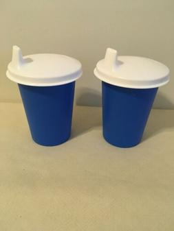 Tupperware Set Of 2 Bell Tumblers / Toddler Cups With Sippy