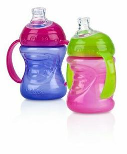 Nuby 2-Pack Two-Handle No-Spill Super Spout Grip N Sip Cups