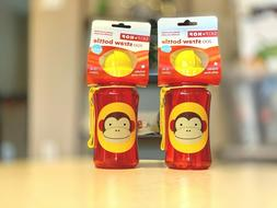 TWO Skip Hop Straw Cup, Toddler Transition Sippy Cup, Monkey