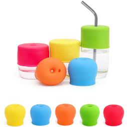 Universal Silicone Spill-Proof Sippy Cup Straw Lids Glasswar