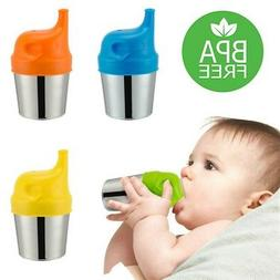 Silicone Sippy Cup Lids Kids Toddler Spill Proof Trainer Bottle Glass Sip Lid US