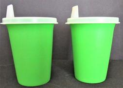 Vintage Tupperware #109 G Set of 2 Sippy Cups Bell Tumblers