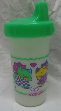 Vintage 1999 Playtex Plastic Sippy Cup Dinosaurs Playing cat