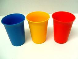 Vintage Child's Set of 3 Tupperware Bell Tumblers Orange, Ye