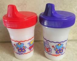 Vintage Decorated Playtex Spill Proof Baby Training Sippy Cu