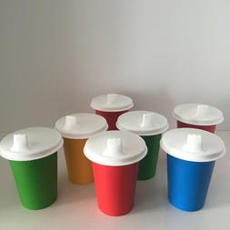 Vintage Tupperware Plastic Sippy Cups Tumbler 109 with Lids