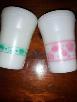 Vintage Playtex Set of Sippy Cups 1990s.