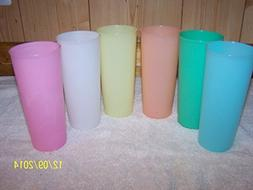 Tupperware Vintage 16oz Tumblers Set of 6 in Pastel Colors