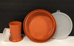Vintage Tupperware Little Diner Dish Bowl #1317 Clear lid &
