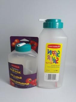 VTG 90's Rubbermaid 1 pint 1 qt Juice Box Straw Litterless S