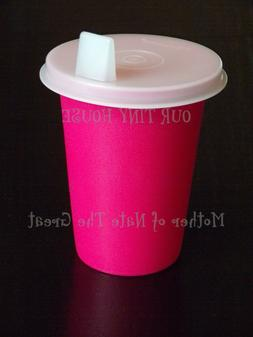 Vtg Tupperware Sippy Bell Tumbler 7 oz Cup 109 Pink/Red  Fla