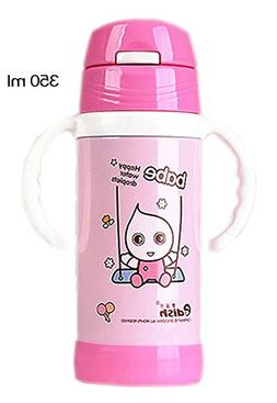 Water-Drop Vacuum Insulated Stainless Steel Sippy Cup with H