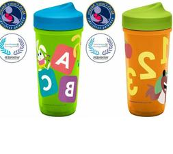 Zak Designs Toddler 8 oz. Sippy Cups, ABC Curious Learner Tr