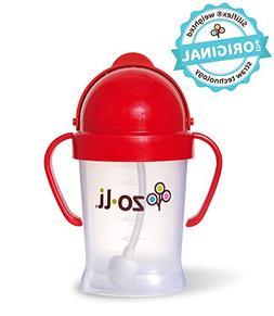 ZoLi BOT 6 Ounce | Siliflex Weighted Straw Sippy Cup, BPA Fr