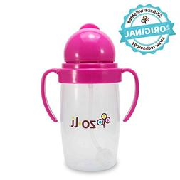 ZoLi BOT 2.0 | Siliflex Weighted Straw Sippy Cup, 10 Ounces,