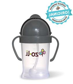 ZoLi BOT 6 Ounce | Siliflex Weighted Straw Sippy Cup, BPA Fr