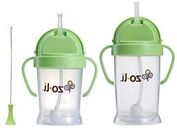 Zoli Bot Straw Sippy Cup 9oz. & 6oz. with Straw Cleaner, Opt