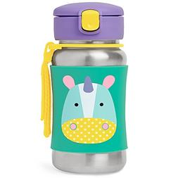 Skip Hop Kids Water Bottle With Straw, Stainless Steel Sippy